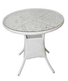 Садовый стол Besk White, 80 x 80 x 72 см