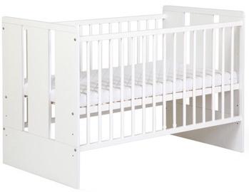 Детская кровать Klups Paula White, 120x60 см