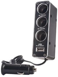 Forever 3in1 Car Socket Splitter + USB 500mAh Charger