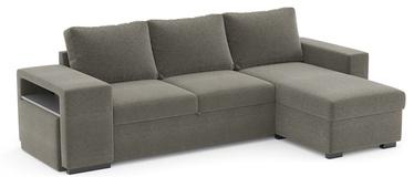 Угловой диван Home4you Elton 63946, серый, 152 x 256.5 x 88 см