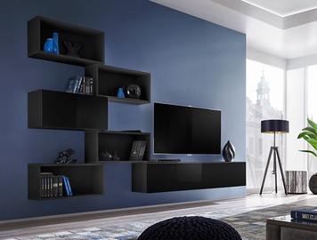 Dzīvojamās istabas mēbeļu komplekts ASM Blox VIII Black