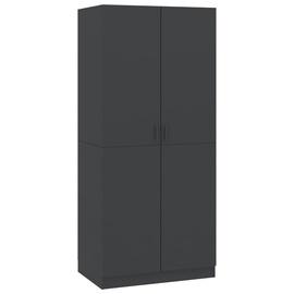 Skapis VLX Compact 800623, pelēka, 52 cm x 80 cm x 180 cm