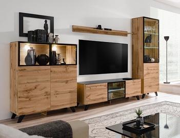 Dzīvojamās istabas mēbeļu komplekts ASM Thin Wotan Oak/Black