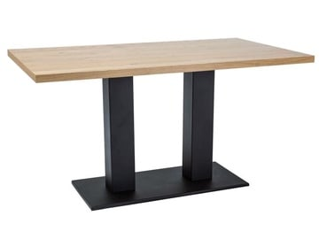Pusdienu galds Signal Meble Sauron Oak/Black, 1500x900x780 mm
