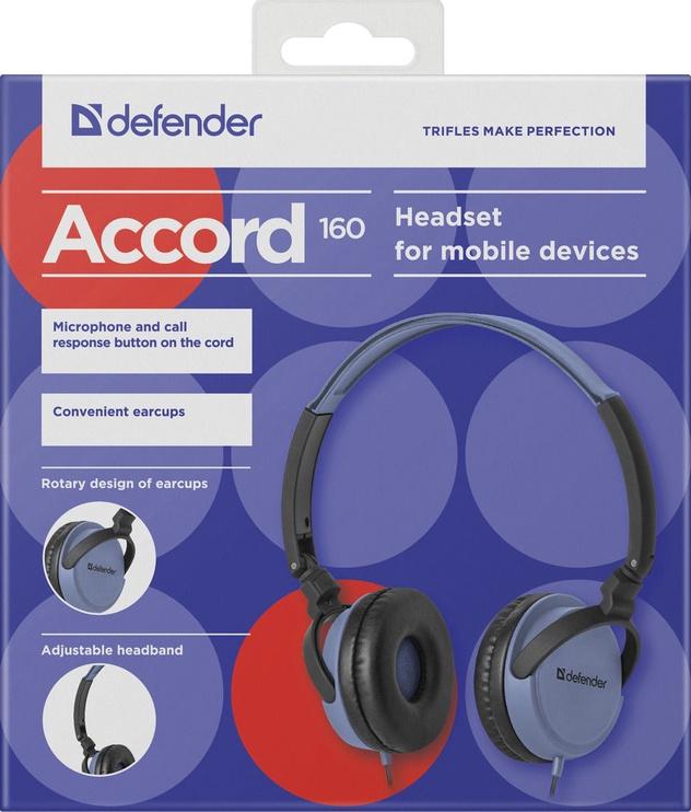 Defender Accord 160 On-Ear Earphones Black/Blue