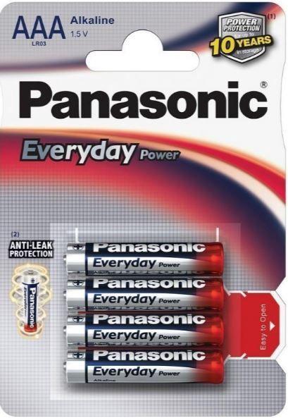 Panasonic LR03 Everyday Power Alkaline Battery AAA x 4