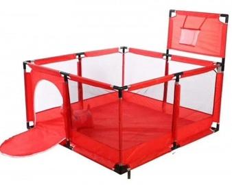 Детский манеж, складной, защитный барьер, красный