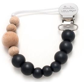 Loulou Lollipop Pacifier Clip Midnight Black