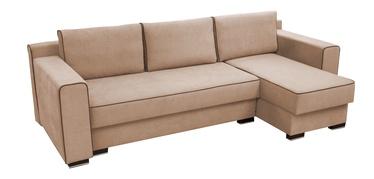Stūra dīvāns Idzczak Meble Colin Light Brown, 254 x 140 x 71 cm