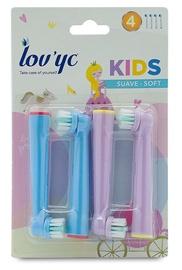 Насадка Lov'yc Kids Princess Soft, синий/розовый, 4 шт.
