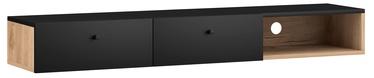 ТВ стол Vivaldi Meble Tulia, черный/дубовый, 1400x300x180 мм