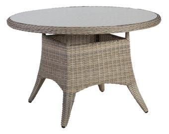 Садовый стол Home4you Pacific 10495, серый/кремовый, 120 x 120 x 75 см