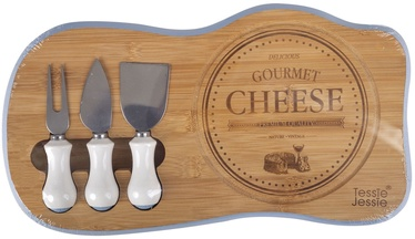 Home4you Cheese Cutting Board Gourmet 38x22cm Bamboo 86531