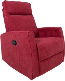 Atzveltnes krēsls Home4you Eddy 13856, sarkana, 76x96x103 cm