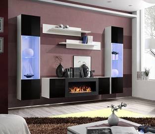 Dzīvojamās istabas mēbeļu komplekts ASM Fly M3 Black/White