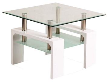 Kafijas galdiņš Signal Meble Modern Lisa D White, 600x600x550 mm