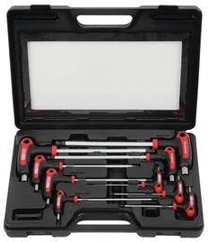 KSTools ERGOTORQUEplus T-handle Ball Ended Hexagon Key Wrench Set 9pcs