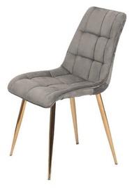 Ēdamistabas krēsls Signal Meble Chic Velvet Grey/Gold, 1 gab.