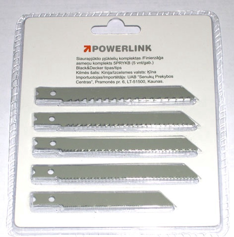 SN Powerlink Jigsaw Blades 5PKYKB Wood 5pcs