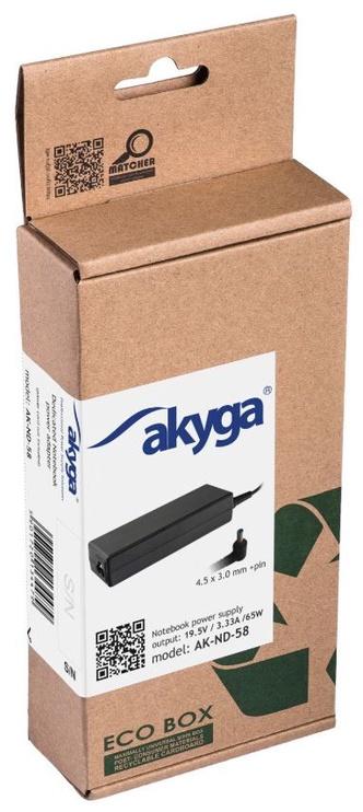 Akyga Power Adapter 19.5V/3.33A 65W 4.5x3.0 + pin