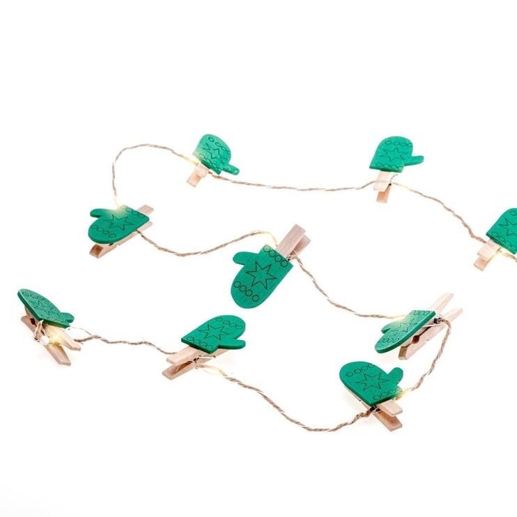 Elektriskā virtene DecoKing Kaleo Glove LED w/ Clips, 10 gab.