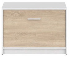 Apavu plaukts Black Red White Nepo Plus White/Sonoma Oak, 700x340x500 mm