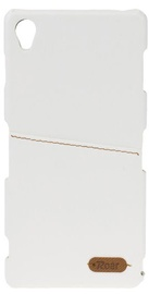 Roar Noble Skin Leather Cover For LG G4 White