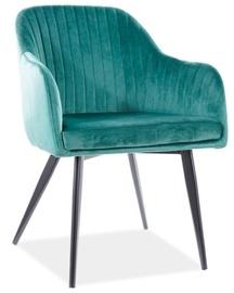 Ēdamistabas krēsls Signal Meble Modern Elina Velvet, zaļa