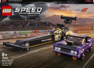 Конструктор LEGO Speed Champions Mopar Dodge SRT Top Fuel Dragster And 1970 Dodge Challenger T/A 76904, 627 шт.