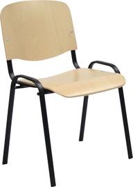 Apmeklētāju krēsls Home4you Iso Plywood 075145 Black