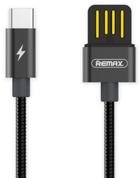 Remax Serpent USB 2.0 Double-Sided To Type-C 1m Black