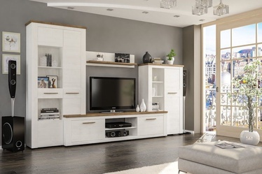 Dzīvojamās istabas mēbeļu komplekts WIPMEB Montreal Oak Andersen/White