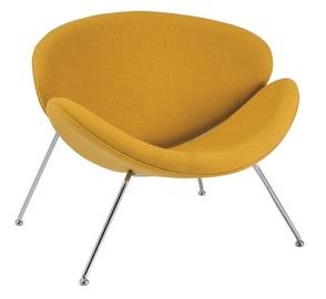 Atzveltnes krēsls Signal Meble Major Yellow, 84x49x72 cm