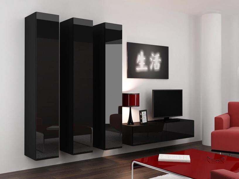 Cama Meble Vigo 180 Full Cabinet Black/Black Gloss