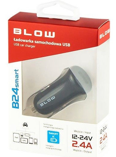 Blow USB Car Charger 2.4A Black