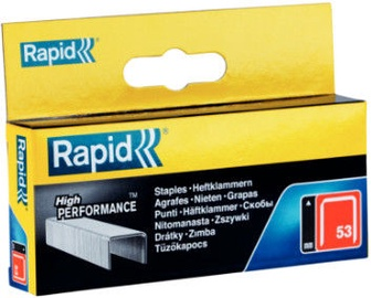Rapid Finewire 53/12mm Red Staples 2500pcs
