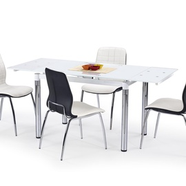 Обеденный стол Halmar L31 Glass/White, 1100 - 1700x740x760 мм