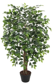Home4you Ficus Artificial Plant In Pot H120cm Green