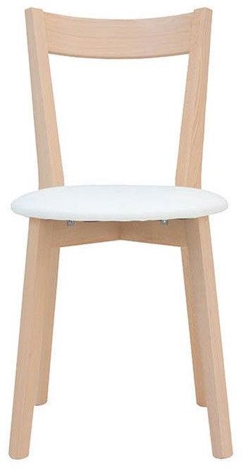 Ēdamistabas krēsls Black Red White Ikka White/Light Brown, 1 gab.