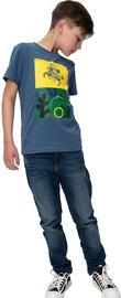 Audimas Junior Short Sleeve Tee Blue Printed 140cm