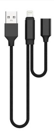 Devia Jet Audio Switching Cable For Apple Lightning 20cm Black