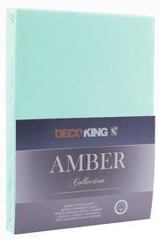 DecoKing Amber Bedsheet 160-180x200 Light Turquoise