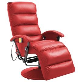 Atzveltnes krēsls VLX Reclining Massage Chair 248486, sarkana, 101 cm x 65 cm x 100 cm