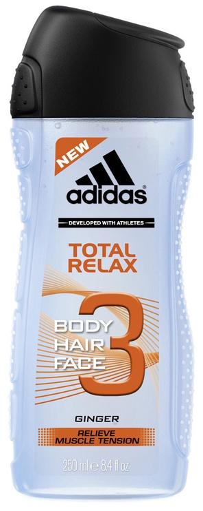 Dušas želeja Adidas Total Relax 3in1, 250 ml