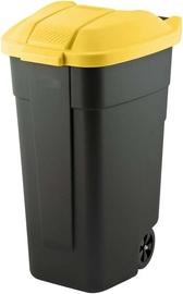 Мусорное ведро Curver 214128, черный/желтый, 110 л