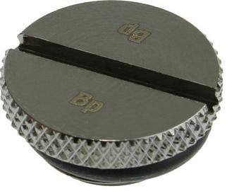 "Bitspower G1/4"" Black Sparkle Low-Profile Stop Fitting"