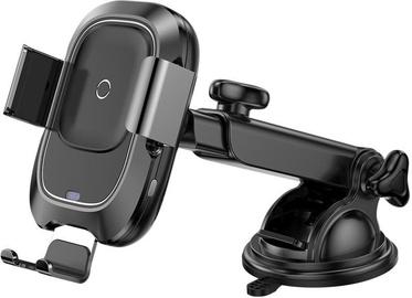 Держатель для телефона Baseus WXZN-B01 Car Smartphone + Qi Charger Black