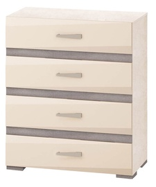 DaVita Freska 66.32 Chest Of Drawers Kena/White Sand/Gray