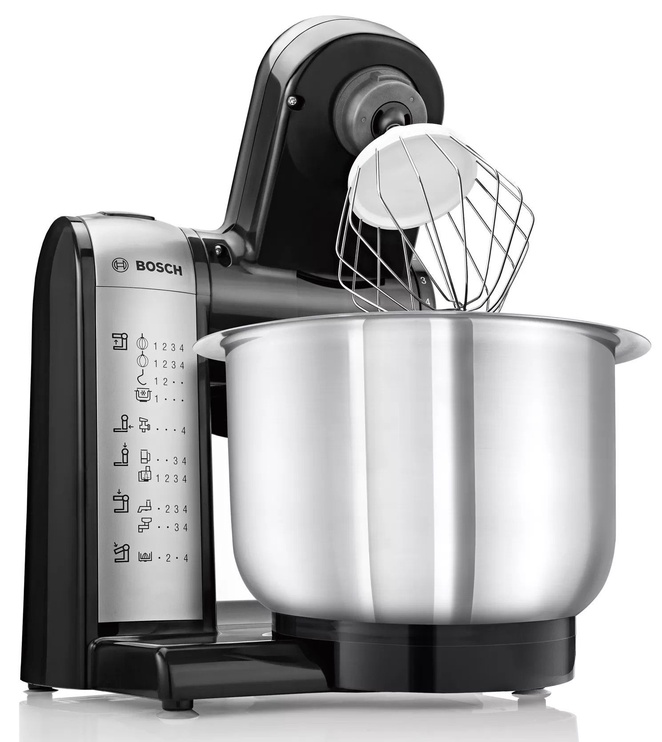 Virtuves kombains Bosch MUM48SL Black/Silver