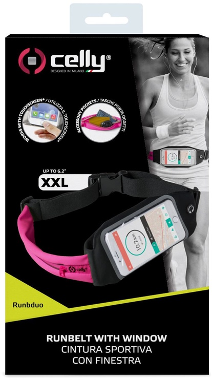 Celly Run Belt Dua Up To 6.5'' Pink